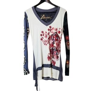 Desigual Funky Abstract Floral Top